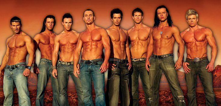 groep mannelijke strippers